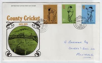 GB: 1973 County Cricket First Day Cover (C32427)