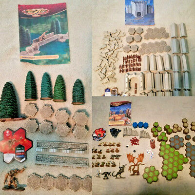 Heroscape Game LOT Road to Forgotten Forest Fortress of Archkyrie Expansion Sets