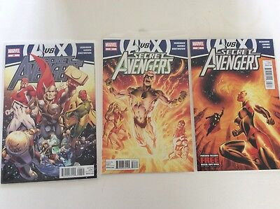 Marvel Secret Avengers #26 #27 #28 AvsX excellent condition
