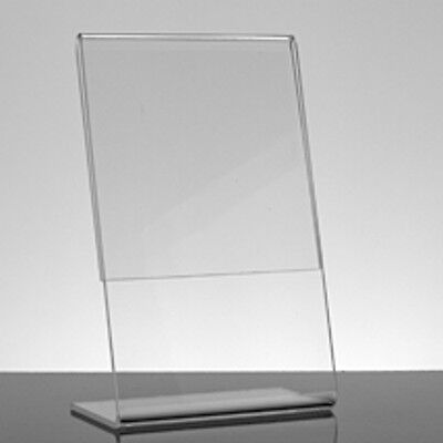 Acrylic Slant Style Sign Holder 5.5 W X 3.5 H Inches - Count of 10