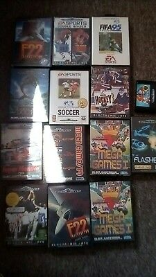 job lot 17 Mega drive games Flashback sonic 2 Ecco F22 FIFA 95 retro bundle