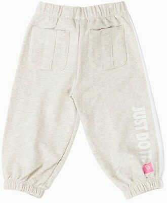 NIKE babies girls infants childs athletic pants tracksuit bottoms GREY 6-24 M