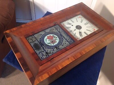 ANTIQUE AMERICAN ROSEWOOD WALL CLOCK, JEROME OF NEW HAVEN.99p START !