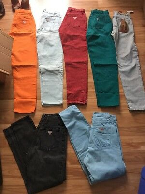 Huge Lot Of Vintage Georges Marciano Guess  High-Waist Mom Jeans - 7 Pair!