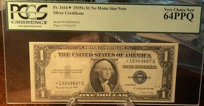 1935-G $1.00 Silver Certificate, STAR NOTE, FR#1616, Choice NEW 64PPQ,PCGS