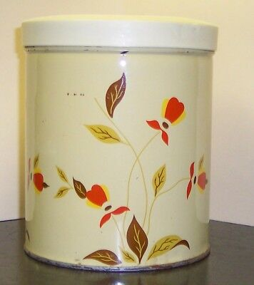 Vintage Hall's Autumn Leaf Jewel Tea Canister Small 5.5 High