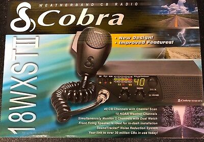 Cobra 18WXSTII 40 Channel Compact CB Radio with Weather & Soundtracker Brand New