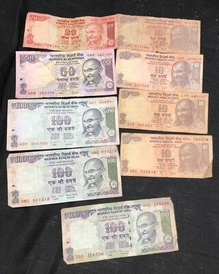 $410 Indian Rupee Currency Paper Money Bank Notes   Lot