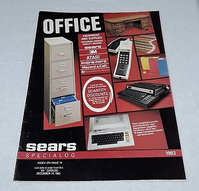 Vintage 1983 Sears Office Equipment And Supplies Catalog