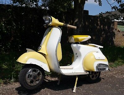 "1966 Vespa VBB 150 good Engine Solid body lots of NewParts +10""Forks  SEE VIDEO"