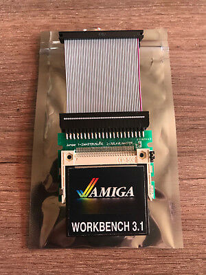Commodore Amiga 600 / 1200 - COMPLETE CF 4G Hard Disk Kit (Workbench 3.1)