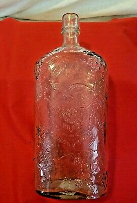 Old Embossed Bottle Garrett's American Wines W/Eagle & Grape Motif  L-778