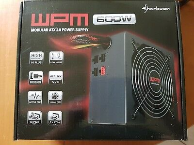 Sharkoon WPM600 - ATX 2.0 Power Supply - modulares Steckersystem, TOP