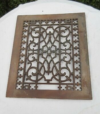 Antique Cast Iron Heating Grate Sweet Design 12 X 10