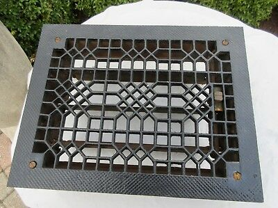 Antique Cast Iron Heating Grate Register Vent Floor Wall Unique Design 14 X 11