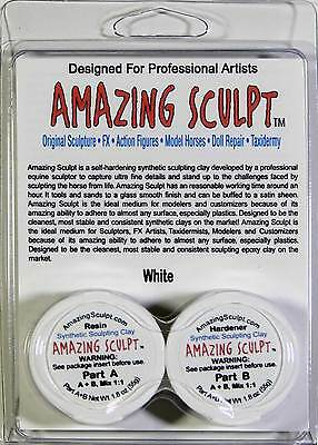 AMAZING SCULPT - White ~1/8 lb Great for CMing Breyers, Custom Resins, Originals