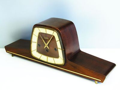 Beautiful Art Deco Design Westminster Chiming Mantel Clock From  Hermle Zentra