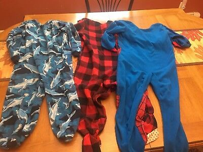 Special Needs Back Zip Pajamas For Winter. Boys Size 7-8