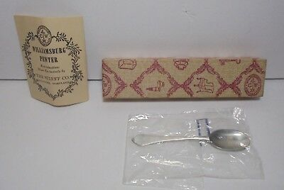 Vintage STIEFF CO. WILLIAMSBURG Pewter Reproduction Spoon with Original Box