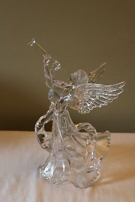 "Gorgeous Clear Acrylic 14"" Angel Christmas Tree Topper"