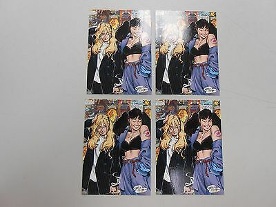 1996 Strangers in Paradise PROMO card lot of 4! Comic Images! RARE AND NM/MN!