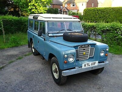 1972 Land Rover Series 3 109 LWB Station Wagon 12 seat petrol + Fairey overdrive