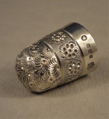 Antique Silver Thimble Birmingham 1919 W J Myattt & Co Size 5