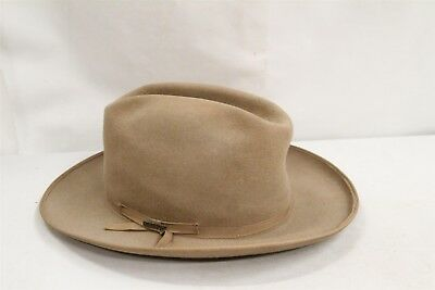 Vintage Stetson Mallory Felt Hat with Head Band & Pin Hipster 7 1/4