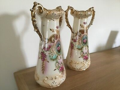 Antique CROWN JEWEL VASES