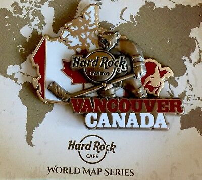 Hard Rock Cafe 2017 Vancouver Casino World Map Series Pin!!