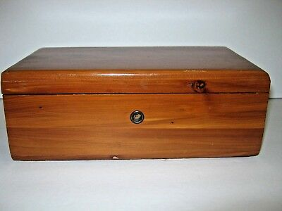 Vtg Lane Miniature CEDAR CHEST Keepsake Trinket Box Salemans Sample ESCONDIDO,CA