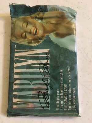New Sealed Pack Of Marilyn Monroe Trading Cards The Diamond Card 1993