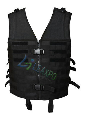 Airsoft Paintball Tactical Outdoor Unisex Delta 6 Black Webbing Rig Molle Vest