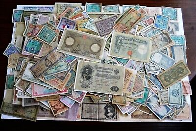 World paper money vintage lot(500) 1899 & up, circulated