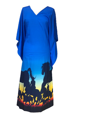 Free Size Kaftan Holiday Dress Beach Cover up fits14,16,18,20,22,24