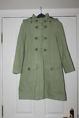 NEXT Girl Green SMART Over Coat,Long Jacket,Sunday Best,Occasion Wool 9-10 year