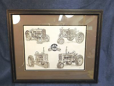 McCORMICK-DEERING - FARMALL TRACTOR GROUPING  by LISSON-KUHN - LTD ED - FRAMED