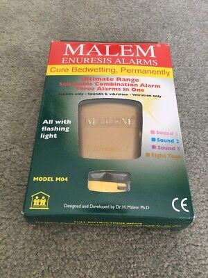 Malem Enuresis Bedwetting Alarm with Sound and vibration Model M04