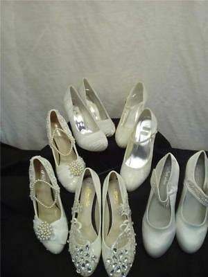 Bundle 5 Pair Assorted New Ivory/Cream Heeled Wedding Shoes S Ass. (0556-MO-W20)