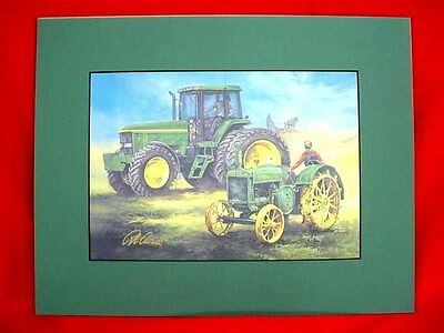 JOHN DEERE TRACTOR PRINT - KEEPING THE PROMISE - by CROUSE - SIGNED & MATTED
