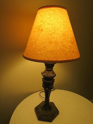 Beautiful Antique Arts and Crafts Small Plaster Base Lamp - Desk, Night Stand