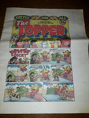 The Topper comic April 18th 1981, No. 1472, good condition