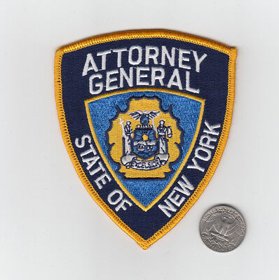 Obsolete State Of New York Attorney General Police Patch NY
