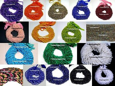 """Top Quality Natural Rondelle Faceted Beads Jewelry Making Hot Gemstone 14""""Strand"""
