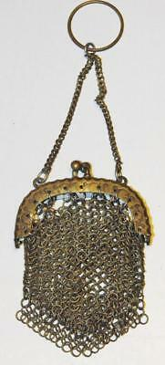 Antique Victorian Silver Chain Mail Coin Purse 4 Chatelaine Ladies Evening wear