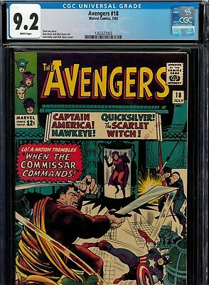 Avengers #18 CGC 9.2 NM- White pages (1965) Marvel, Beautiful book!