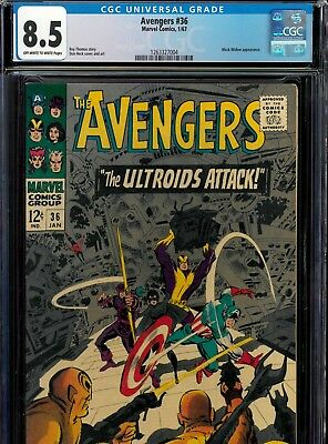 Avengers #36 CGC 8.5 VF+ (1967) Marvel Silver Age, Black Widow appearance