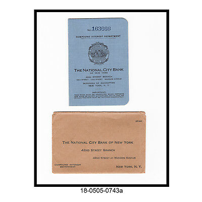1927 The National City Bank of New York Pass Book