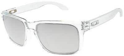 Oakley Holbrook Sunglasses OO9102-06 Polished Clear | Chrome Iridium Lens | BNIB