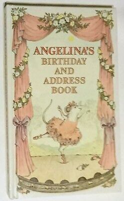 ANGELINA'S BIRTHDAY & ADDRESS BOOK - Angelina Ballerina H/C - NEW LOOK!